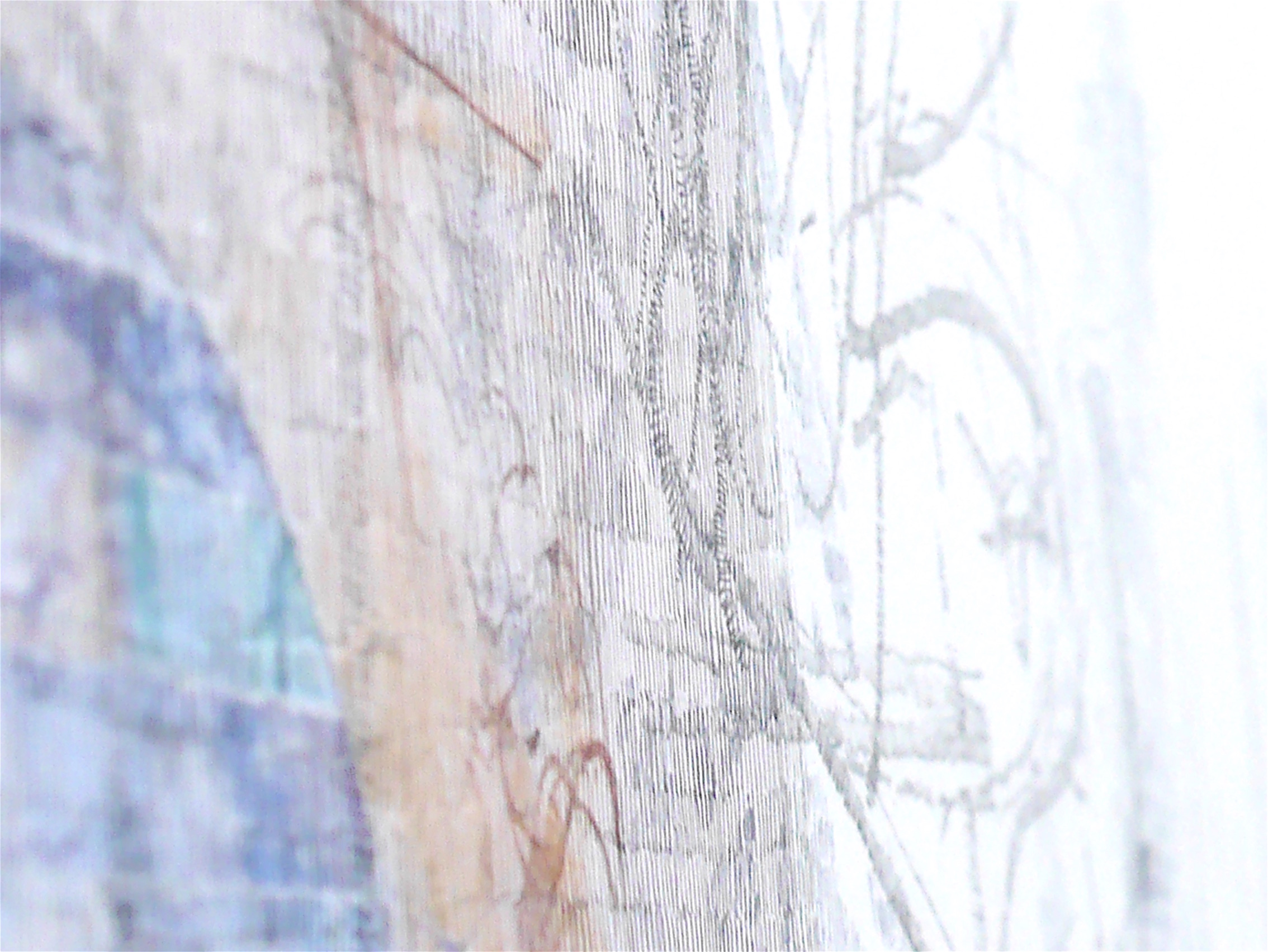 Caroline Ali, Altered Territories 18, [black watercolour, collage] detail 1